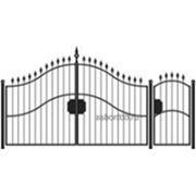 Ворота и калитка: Элит, модель 004 фото