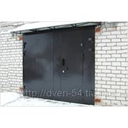 Ворота гаражные. Новосибирск. Лист металла 3 мм фото