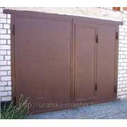Металлические ворота для гаражей фото