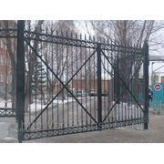 Металлические сварные ворота Арт. СВ-09 фото