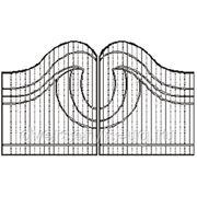Кованые ворота №17 фото