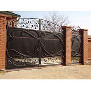 Кованые ворота с калиткой… фото