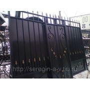 Ворота с калиткой 3,4х2,4м+1м №-14 без столбов фото