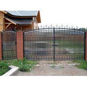 Металлические сварные ворота Арт. СВ-13 фото