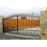 Металлические сварные ворота Арт. СВ-14 фото