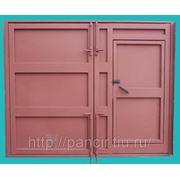 Металлические гаражные ворота фото