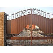 Ворота на осях металлические фото