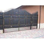 Ворота сварные с элементами ковки фото