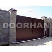 """Комплект распашных ворот DoorHan """"Собери Сам"""" из сэндвич панели коричневый RAL8014 (4430x2200) фото"""