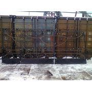 Ворота с калиткой 3,5х1,8+1м №-8 фото