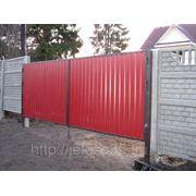 Ворота распашные из профлиста фото
