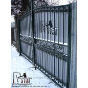 Кованые ворота 9 фото