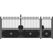 Ворота и калитка: Классика, модель 008 фото