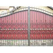 Кованые ворота 8 фото