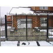 Кованые ворота Арт. КВ-08 фото