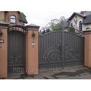 Кованые ворота Арт. КВ-15 фото
