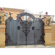 Кованые ворота Арт. КВ-40 фото