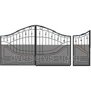 Кованые ворота №31 фото