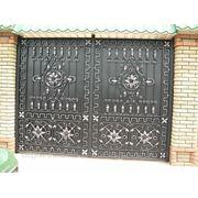 Кованые ворота 17 фото