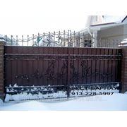 Ворота кованые по индивидуальным размерам любого дизайна и из любого материала. фото