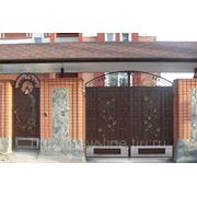 Ворота металлические и калитка фото
