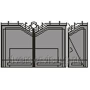 Кованые ворота №11 фото