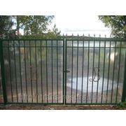 Ворота металлические с поликарбонатом фото