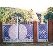 Кованые ворота и калитка фото