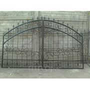 Ворота с элементами ковки ВПК-03 фото