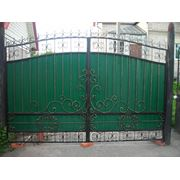 Ворота с элементами ковки ВПК-02 фото