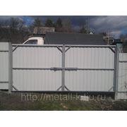 Ворота металлопрофиль 3,3х2 фото