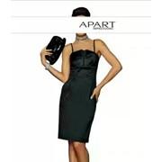 Атласное вечернее платье черное фото