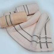 Полотенце махровое, жаккардовое из 32-й нити слабой крутки 100 % хлопок 400 гр/кв.м. 65*130 (1391) фото