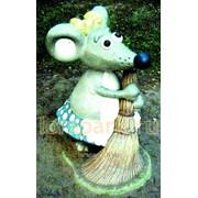 Фигура садово-парковая Мышка-Хозяйка фото