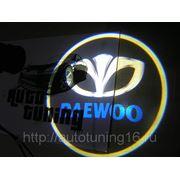 Лазерная проекция с логотипом Daewoo фото