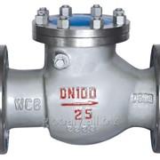 Клапан обратный поворотный (вертикальный) фланцевый стальной Н44Н-40 (Ру-40) фото