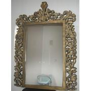 Зеркало в резной раме 1100*800мм,внутреннее 750*480мм,материал МДФ фото