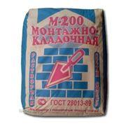 Сухая монтажно-кладочная смесь М-200 45кг