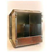 Кормушка бункерная оцинкованная металлическая двух секционная с крышкой для кроликов фото