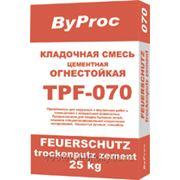 """Кладочная смесь огнестойкая TPF-070 """"ByProc"""" 25 кг фото"""