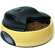 Автокормушка желтая на 4кормления для 1,-1,2кг корма фото