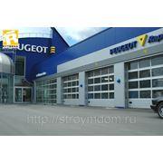 Ворота гаражные подъемно-секционные RYTERNA промышленные 4000*3980мм фото