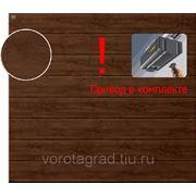 Автоматические гаражные секционные ворота Hormann (2500х2250) Decograin Dark Oak (Хёрманн или Хёрман)