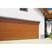 Гаражные секционные ворота HORMANN 2500x2500 EPU40 + Привод ProMatic под дерево фото