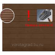 Автоматические гаражные секционные ворота Hormann (3000х2500) Micrograin RAL 8028 (Хёрманн или Хёрман) фото