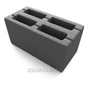 Фундаментный керамзитобетонный блок 900 х 400 х 600 мм фото