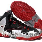 Кроссовки Nike LeBron XI 11 Black Red Elite 2014 40-46 Код LBXI14 фото