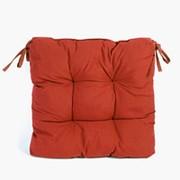 Подушка для стула объемная, красная фото