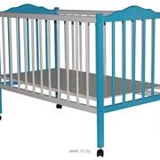 Кроватка детская (Бело-голубой) фото