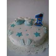 Торт на первый День Рожденья фото